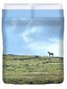 Rapa Nui Horse Duvet Cover