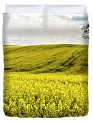 Rape Landscape With Lonely Tree Duvet Cover