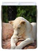 Rare Female White Lion Duvet Cover