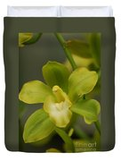 Rare Green Orchid Duvet Cover