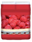 Raspberries In A Basket Duvet Cover