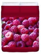 Homegrown Organic Raspberries, Chiloquin Oregon Duvet Cover