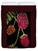 Raspberry Fabric Duvet Cover