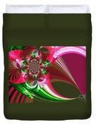 Raspberry Garden Duvet Cover