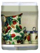 Raspberry Pitcher Duvet Cover