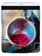 Raspberry Reflections Duvet Cover