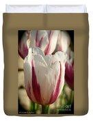 Raspberry Vanilla Tulip Duvet Cover