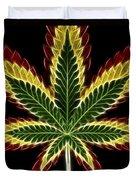Rasta Marijuana Duvet Cover by Adam Romanowicz