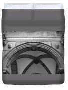 Rathaus Arch Bw Cologne Germany Duvet Cover