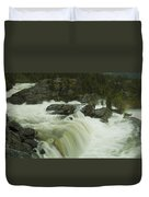 Rauma Waterfall Panorama Duvet Cover