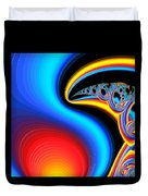 Raven, Dreaming By The Fire Duvet Cover