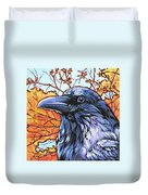 Raven Head Duvet Cover by Nadi Spencer
