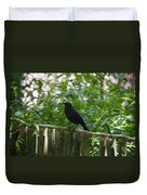 Raven In The Wild Duvet Cover