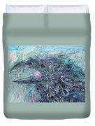 Raven - Oil Portrait Duvet Cover