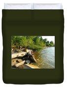 Raw Lake Erie Shore Duvet Cover