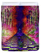 Rawa River Abstract Art Duvet Cover by Mary Clanahan