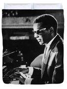 Ray Charles At The Piano Duvet Cover