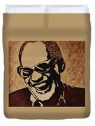 Ray Charles Original Coffee Painting Duvet Cover