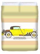 1922 Mercedes Benz By Raymond Dietrich Z Duvet Cover