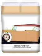 Raymond H Dietrich Packard Sport Phaeton Concept Duvet Cover