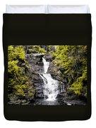 Raymondskill Falls In Milford Pa Duvet Cover