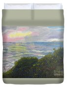 Rays Of Light At Burliegh Heads Duvet Cover