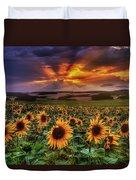Rays Of Sunflowers Duvet Cover