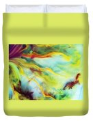 Rays Of The Sun Watercolor Abstraction Painting Duvet Cover