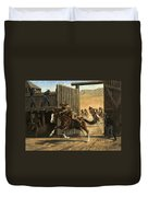 Re-closing Frontiersmen Coming Into The Fort Duvet Cover
