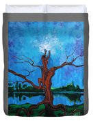 Reach For The Light My Sister Duvet Cover
