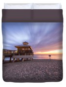 Reaching Into Sunrise Duvet Cover