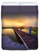 Reaching Into Sunset Duvet Cover