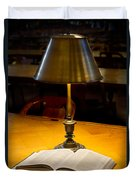 Reading Lamp And Book Duvet Cover