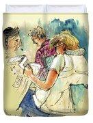 Reading The News 06 Duvet Cover