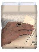 Reading The Passover Hagadah  Duvet Cover