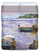 Ready For A Sunset Row Duvet Cover