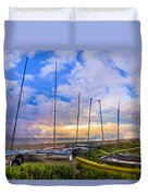 Ready For Sails Duvet Cover by Debra and Dave Vanderlaan
