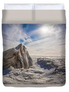 Ready To Let Loose Ice Formation Duvet Cover