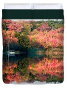 Ready To Sail In The Fall Colors Duvet Cover