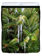 Real Christmas Icicles Duvet Cover