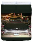 Rear View Black And Chrome Beauty Duvet Cover by Donna Wilson