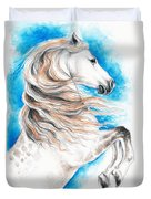Rearing Andalusian Horse Duvet Cover