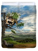 Rebirth Of A Fallen Soldiers Cross Duvet Cover