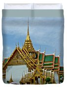 Reception Hall At Grand Palace Of Thailand In Bangkok Duvet Cover