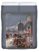 Reception Of Charles V In Amboise Duvet Cover