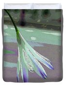 Reclining Lily Abstract Duvet Cover