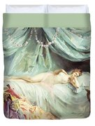 Reclining Nude In An Elegant Interior Duvet Cover by Madeleine Lemaire