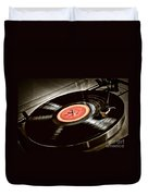 Record On Turntable Duvet Cover