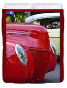 Red 40 Ford Duvet Cover