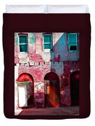 Red Abandonment Duvet Cover